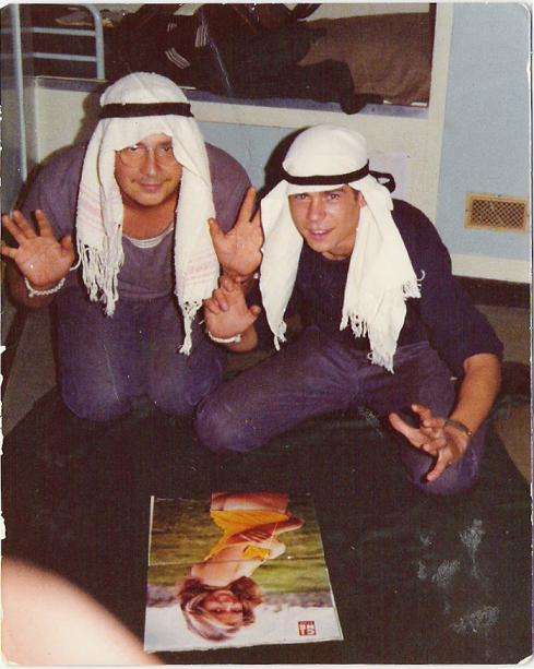 Le cuistot et le bosco en 1974