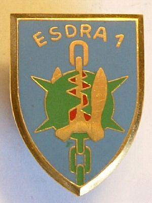 L insigne de la 1 ère Escadrille de Dragages et de Forces Cotière