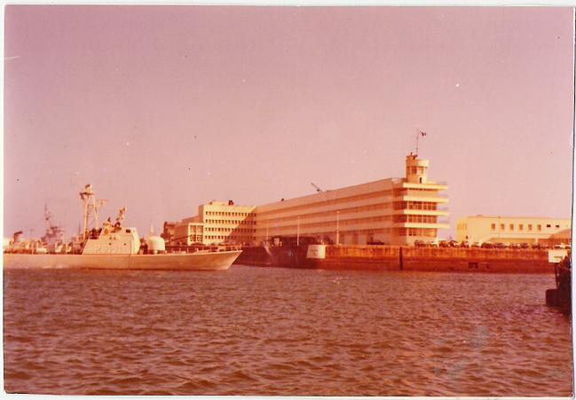 Vue du port militaire de cherbourg