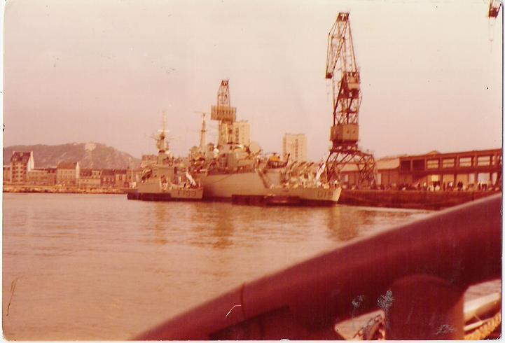 Navires Britaniques a Cherbourg