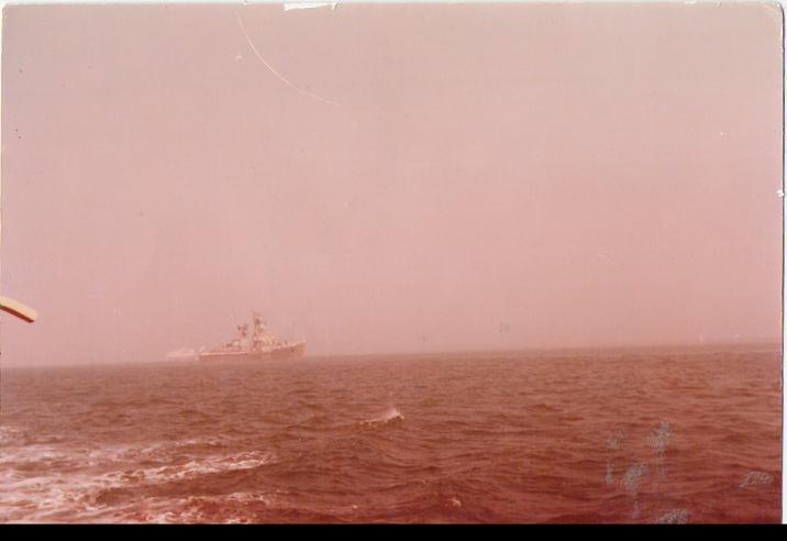 Croiseur sovietique au large de Cherbourg