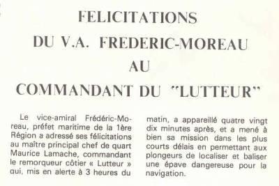 article cols bleus numéro 1344 du 14 septembre 1974