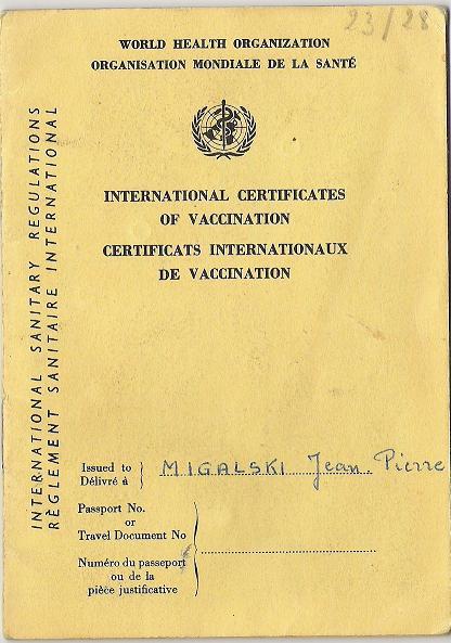 carnet de vaccinations