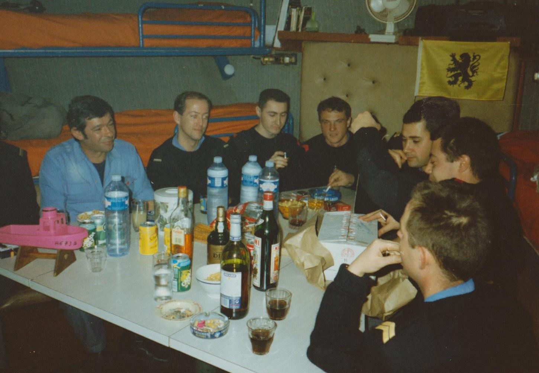 Poste équipage en 1995 ambiance à bord
